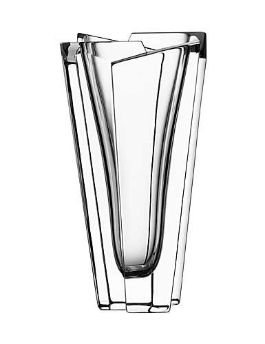 "Orrefors Crystal, Glacial 9 1/2"" Crystal Vase"