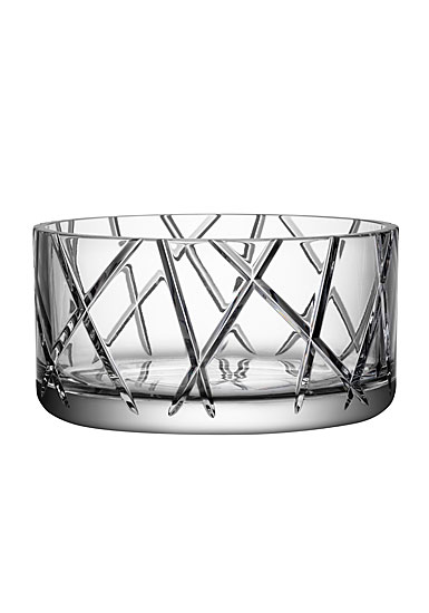 "Orrefors Crystal, Explicit Striped 8 3/4"" Crystal Bowl"