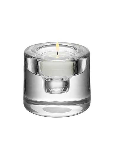 Orrefors Crystal, Shine Crystal Votive, Silver
