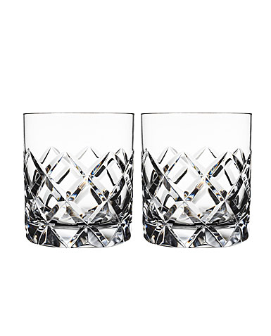 Orrefors Crystal, Sofiero Old Fashioned Tumbler Glass, Pair