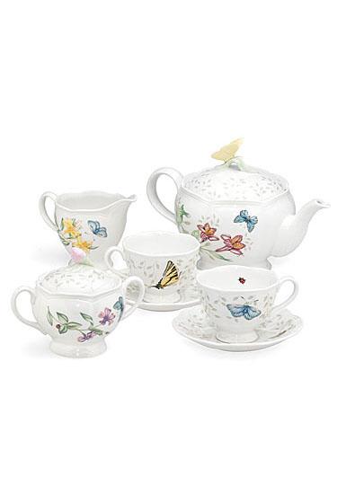 Lenox Butterfly Meadow Dinnerware 9 Piece Tea Set