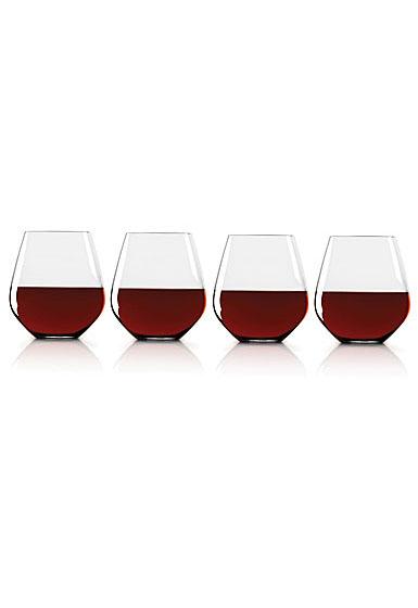 Lenox Tuscany Classics Simply Red Tumbler Glasses, Set Of Four
