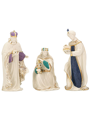 Lenox First Blessing Nativity Three Kings, Set of 3