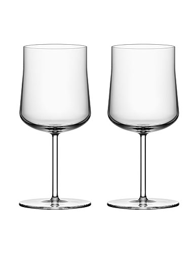 Orrefors Informal Large Wine Glasses Pair