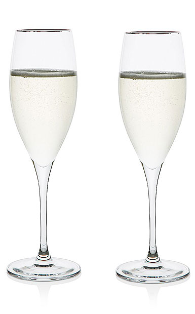 Riedel Vinum Platinum Champagne Flutes, Cuvee Prestige, Pair