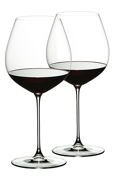 Riedel Veritas, Old World Pinot Noir Crystal Wine Glasses, Pair