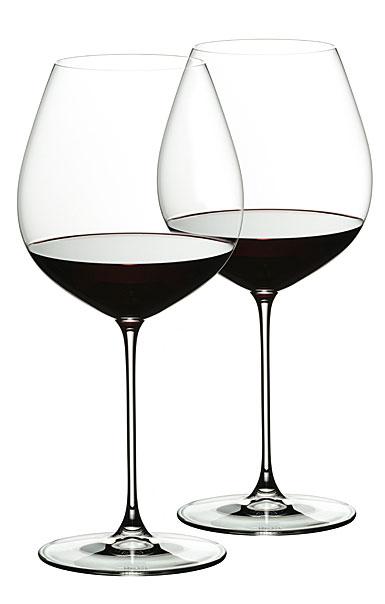 Riedel Veritas, Old World Pinot Noir Wine Glasses, Pair