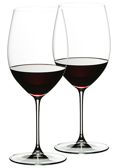 Riedel Veritas, Cabernet, Merlot Crystal Wine Glasses, Pair