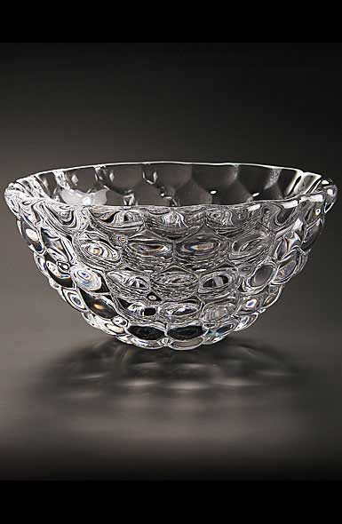 "Orrefors Crystal, Raspberry 7 1/2"" Crystal Bowl"