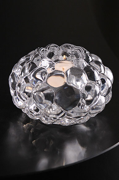 Orrefors Crystal, Raspberry Crystal Votive, Single