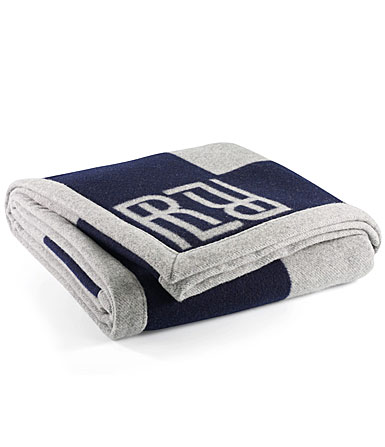 Ralph Lauren Montclair RL Signature Blanket, Navy
