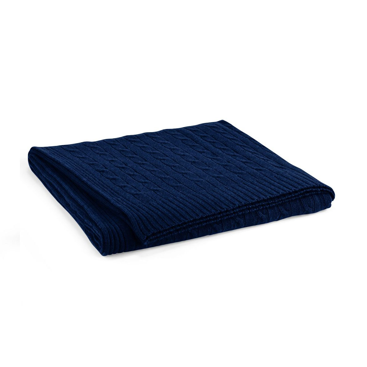 Ralph Lauren Cable Cashmere Throw Blanket, Polo Navy