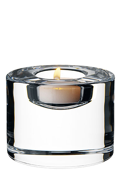 Orrefors Crystal Puck Crystal Votive, XL