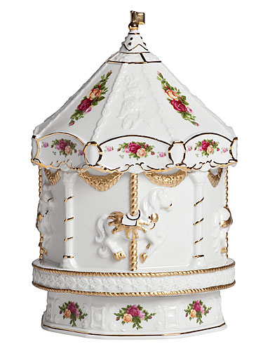 Royal Doulton Old Country Roses, Carousel Musical 10 IN (Sleeping Beauty)