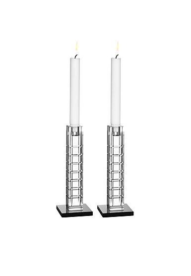 Orrefors Street Candleholder, Small, pair