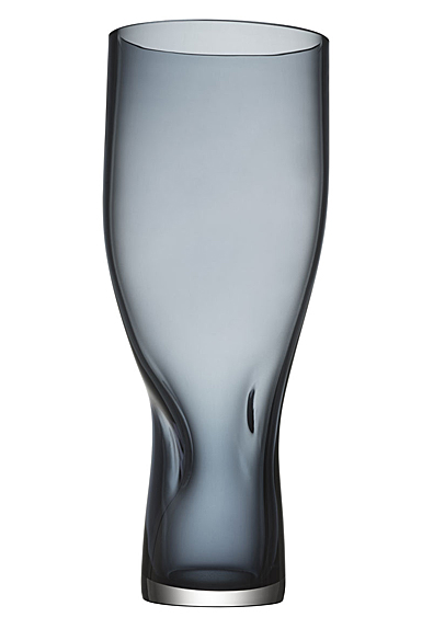 """Orrefors Squeeze 13.5"""" Vase Blue Tall"""