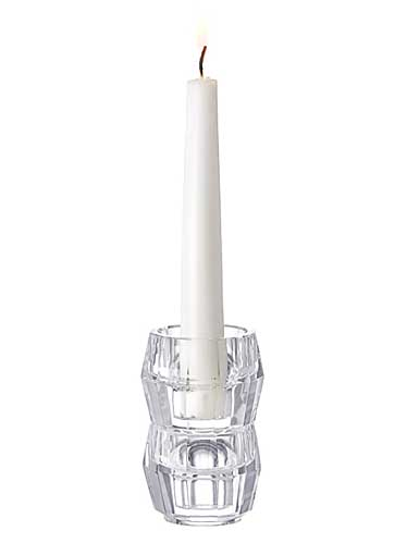 Orrefors Crystal, Totem Harmony Crystal Candlestick Clear, Pair