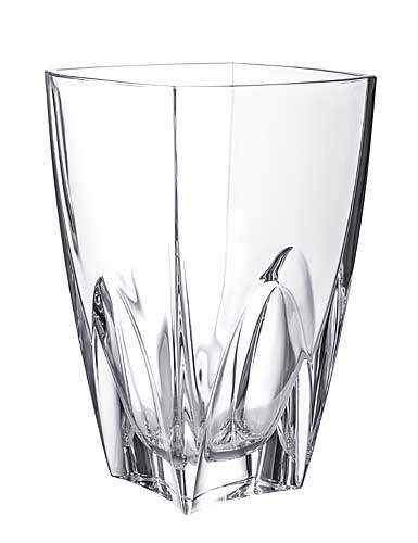 "Orrefors Crystal, Cathedral 10"" Crystal Vase"