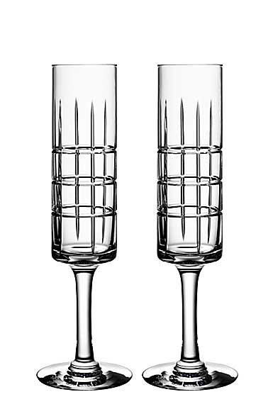 Orrefors Crystal, Street Crystal Champagne, Pair