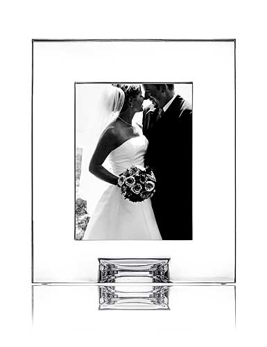 "Orrefors Crystal, Plaza 5x7"" Picture Frame"