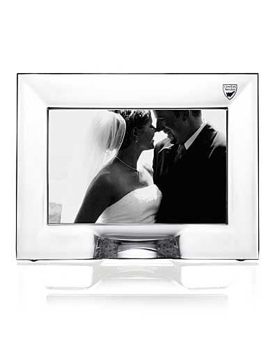 """Orrefors Crystal, Plaza 4x6"""" Picture Frame"""