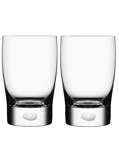 Orrefors Crystal, Intermezzo Satin Small Tumbler, Pair