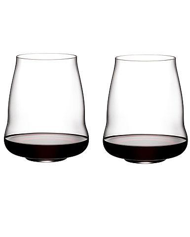 Riedel Stemless Winewings Pinot Noir, Nebbiolo Pair