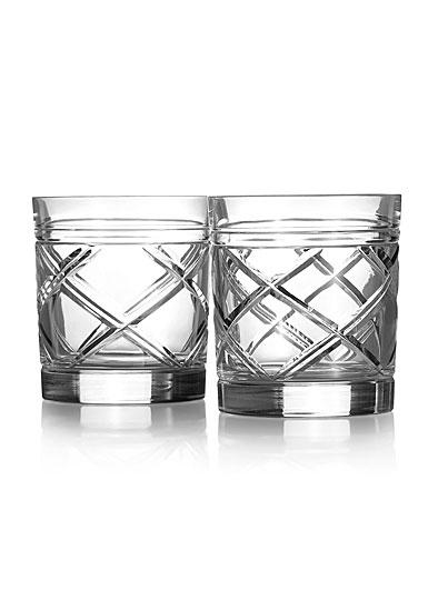 Ralph Lauren Brogan Classic Crystal DOF Tumbler, Pair