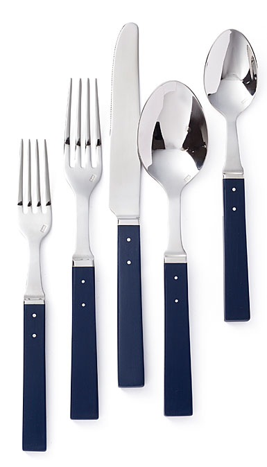 Ralph Lauren Flatware Ronan Navy 5 Piece Place Setting