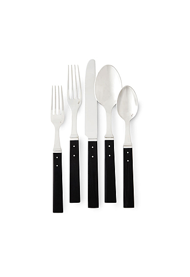Ralph Lauren Flatware Ronan 5 Piece Place Setting, Black