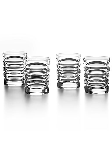 Ralph Lauren Metropolis Shot Crystal Glasses, Set of 4