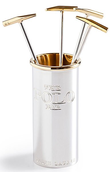 Ralph Lauren Kipton Cocktail Picks with Holder, Set