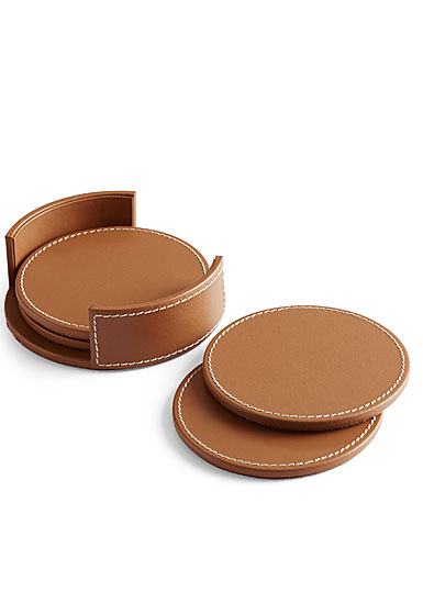 Ralph Lauren Wyatt Leather Coasters, Set of Four