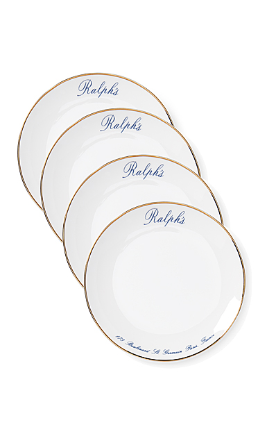 Ralph Lauren China Ralph's Paris Canape Plates, Set of 4