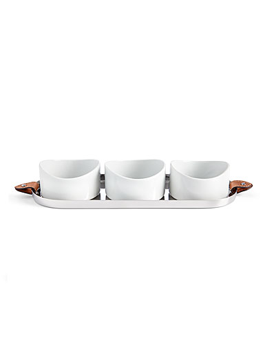Ralph Lauren China and Metal Wyatt Hors D'oeurves Tray