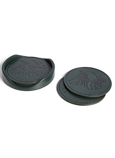 Ralph Lauren Garrett Set of Four Coasters, Green