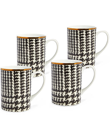 Ralph Lauren China Wessex Mugs, Set of Four