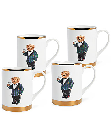 Ralph Lauren China Thompson Set of Four Mugs