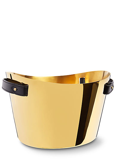 Ralph Lauren Wyatt Double Champagne Cooler, Black and Gold