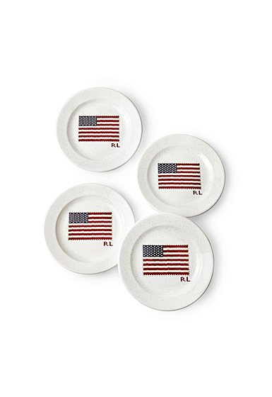 Ralph Lauren China Bradfield Dessert Plate, Set of Four