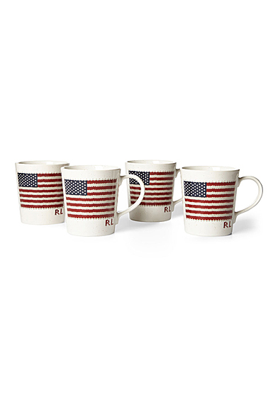 Ralph Lauren China Bradfield Mug, Set of 4