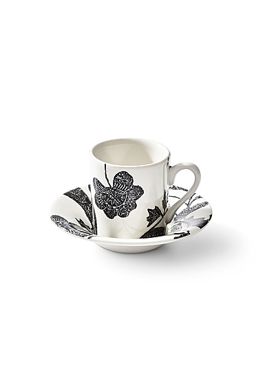 Ralph Lauren Garden Vine Espresso Cup and Saucer, Black