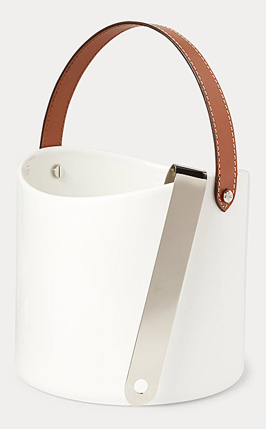 Ralph Lauren China Wyatt Ice Bucket and Tong, Saddle
