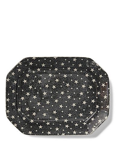Ralph Lauren China Midnight Sky Large Rectangular Tray, Dark Black