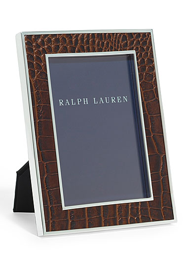 """Ralph Lauren Chapman Chocolate Brown 5x7"""" Picture Frame"""