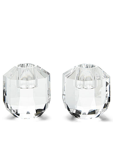 Ralph Lauren Leigh Small Crystal Candlesticks, Pair
