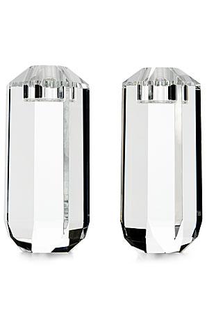 Ralph Lauren Leigh Large Crystal Candlesticks, Pair