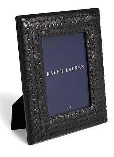 """Ralph Lauren Adrienne 8""""x10"""" Picture Frame, Black"""