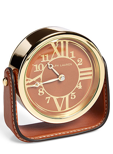 Ralph Lauren Brennan Clock, Saddle