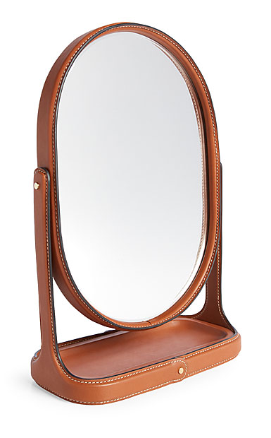 Ralph Lauren Brennan Vanity Mirror, Saddle